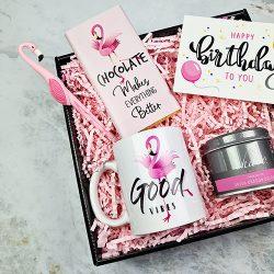 flamingo doğum günü hediye kutusu